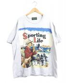 POLO COUNTRY(ポロカントリー ラルフローレン)の古着「90'sポロスポーツマンプリントTシャツ」|グレー