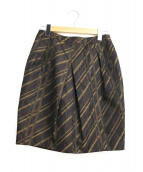 Mila Schon(ミラショーン)の古着「スリットストライプスカート」|ブラウン