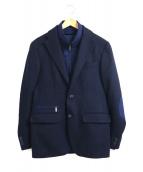 CORNELIANI(コルネリアーニ)の古着「レイヤードデザインテーラードジャケット」|ネイビー