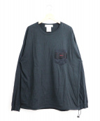 REMI RELIEF×BRIEFING(レミレリーフ×ブリーフィング)の古着「ロングスリーブポケットTシャツ」 ブラック