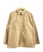 Graphpaper(グラフペーパー)の古着「タイプライターL/Sボックスシャツ」|ベージュ