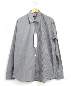 DRESSEDUNDRESSED(ドレスドアンドレスド)の古着「切替チェックシャツ」 ブラック×ホワイト