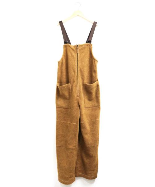 JOHNBULL(ジョンブル)Johnbull (ジョンブル) フリースサロペット ブラウン サイズ:SIZE Mの古着・服飾アイテム