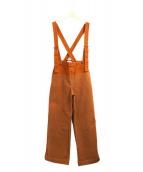 Johnbull(ジョンブル)の古着「ツートーンサスペンダーパンツ」 ブラウン×オレンジ