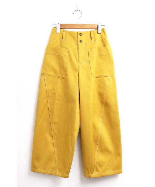 JOHNBULL(ジョンブル)Johnbull (ジョンブル) ワークステッチカラーパンツ イエロー サイズ:Sの古着・服飾アイテム