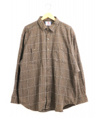 SON OF THE CHEESE(サノバチーズ)の古着「ビッグチェックシャツ」|ブラウン