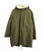 A.P.C(アーペーセー)の古着「ボアライナー付ツイルフーデッドコート」|オリーブ