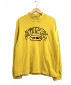 stussy(ステューシー)の古着「アーチロゴハイネックスウェット」|イエロー