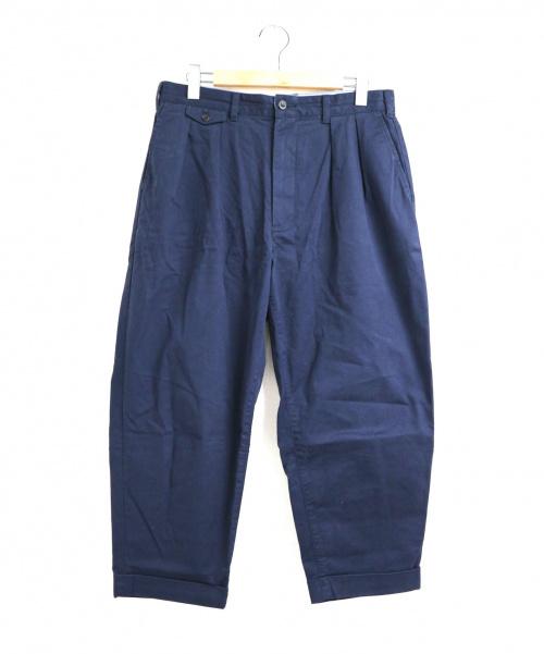 BEAMS PLUS(ビームスプラス)BEAMS PLUS (ビームスプラス) 2プリーツチノパンツ ネイビー サイズ:L 20SSの古着・服飾アイテム