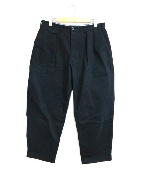 BEAMS PLUS(ビームスプラス)BEAMS PLUS (ビームスプラス) 2プリーツチノパンツ ブラック サイズ:L 20SSの古着・服飾アイテム