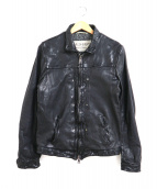 GIORGIO BRATO(ジョルジオブラット)の古着「シングルライダースジャケット」|ブラック