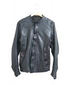 sisii(シシ)の古着「カウレザーシングルライダースジャケット」|ブラック