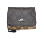 COACH(コーチ)の古着「3つ折り財布」|ブラウン×ベージュ