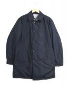 SANYO COAT(サンヨーコート)の古着「リバーシブル中綿ステンカラーコート」|ネイビー×グレー