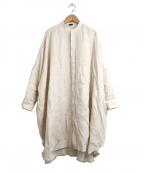 R&D.M.Co-OLDMANS TAILOR(アールアンドディー エム コー オールドマンズテーラー)の古着「リネンドルマンスリーブシャツ」|アイボリー