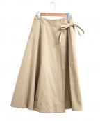 porter des boutons(ポルテデブトン)の古着「リバーシブルラップスカート」|ベージュ