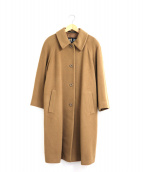 DAKS(ダックス)の古着「カシミヤ混メルトンウールオーバーコート」|ベージュ
