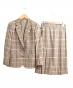 [OLD]Burberrys(バーバリーズ)の古着「チェック柄スカートセットアップスーツ」|ベージュ