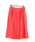 ()の古着「タックフレアカラースカート」|ピンク