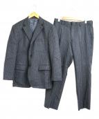 DURBAN(ダーバン)の古着「ストライプセットアップ2Bスーツ」|グレー