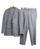 DURBAN(ダーバン)の古着「チェックセットアップ2Bスーツ」|グレー