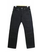KOJIMA GENES(コジマジーンズ)の古着「ダブルニーブラックデニム」 ブラック