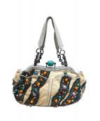 JAMIN PUECH(ジャマンピュエッシュ)の古着「装飾ハンドバッグ」|グレー