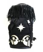 KTZ(ケーティーゼット)の古着「フリンジタトゥー柄リュック / バックパック」|ブラック