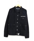R.H.Vintage(ロンハーマンヴィンテージ)の古着「ブラックデニムジャケット」|ブラック