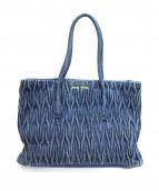 MIU MIU(ミュウミュウ)の古着「デニムハンドバッグ」|インディゴ