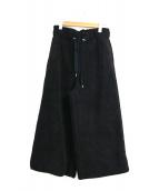 ()の古着「ボアフリースワイドパンツ」 ブラック