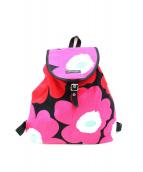 marimekko(マリメッコ)の古着「ウニッコ柄キャンバスリュック」|レッド×ピンク