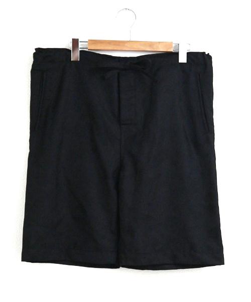 COMME des GARCONS HommePlus(コムデギャルソンオムプリュス)COMME des GARCONS HommePlus (コムデギャルソンオムプリュス) カモフラ柄ウールハーフパンツ ブラック サイズ:XS 19SS AD2018 wool jacquard camo pattern shortsの古着・服飾アイテム