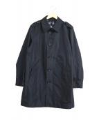 BURBERRY LONDON(バーバリーロンドン)の古着「シングルステンカラーコート」|ブラック