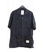 NEIGHBORHOOD(ネイバーフッド)の古着「オープンカラーリネンキューバシャツ」|ブラック