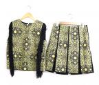 ADORE(アドーア)の古着「セットアップインディアナブラウス&スカート」|イエロー×ブラック