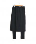 porter des boutons(ポルテデブトン)の古着「リブプリーツスカートセット」|ブラック