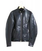 Mastermind JAPAN(マスターマインドジャパン)の古着「エコレザーライダースジャケット」|ブラック