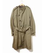KOLOR(カラー)の古着「ベルテッドトレンチコート」|カーキ