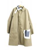 KOLOR(カラー)の古着「ナイロンツイル3レイヤーステンカラーコート」|ベージュ