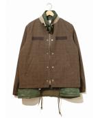 sacai(サカイ)の古着「グレンチェックジャケット」|ブラウン