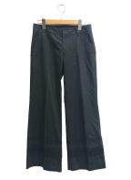 tricot COMME des GARCONS(トリココムデギャルソン)の古着「[OLD]レーステープ切替パンツ」 ブラック