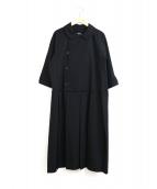 tricot COMME des GARCONS(トリココムデギャルソン)の古着「[OLD]ウールギャバジンワンピース」|ブラック