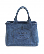 PRADA(プラダ)の古着「2WAYカナパデニムトートバッグ」 インディゴ