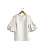 OBLI(オブリ)の古着「バルーンスリーブブラウス」 ホワイト
