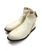 ()の古着「サイドジップショートブーツ」|ホワイト