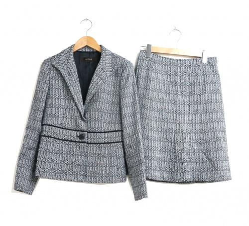 Reflect(リフレクト)Reflect (リフレクト) ツイードセットアップスーツ グレー サイズ:ジャケット11 スカート9の古着・服飾アイテム