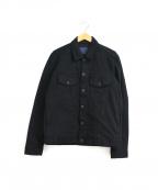 JOHNBULL()の古着「フレックスジーンジャケット」|ブラック