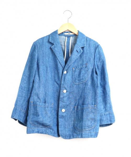 45R(フォーティファイブアール)45R (フォーティファイブアール) 藍リネンデニムジャケット インディゴ サイズ:2 ブランド定番人気アイテムの古着・服飾アイテム