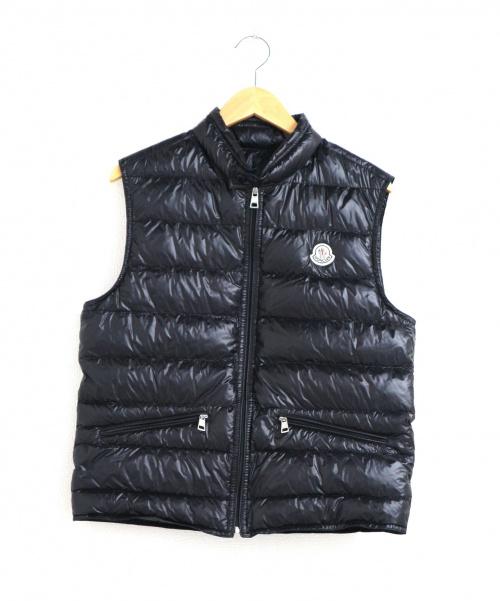MONCLER(モンクレール)MONCLER (モンクレール) ライトウェイトダウンベスト ブラック サイズ:1 GUI GILETの古着・服飾アイテム